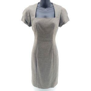 Diane von Furstenberg Houndstooth Retro Dress